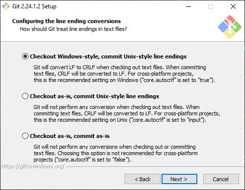 Install Git Line Endings