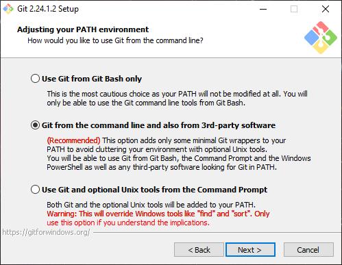 Install Git Path Setup
