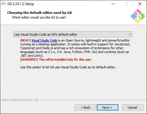 Install Git Select Code Editor