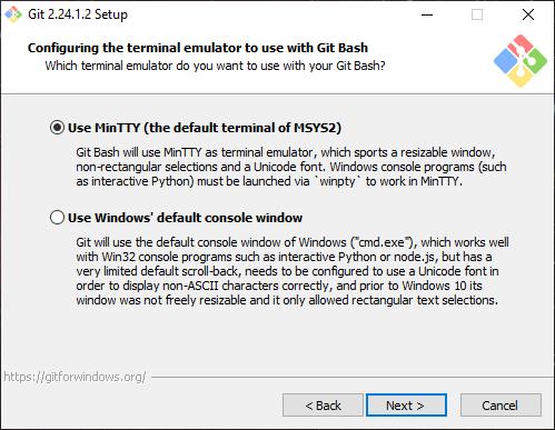 Install Git Terminal Emulator Config