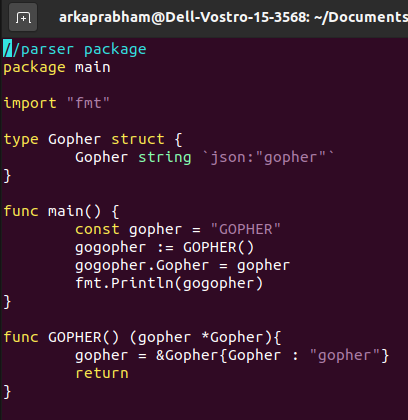 Gopher Go File To Be Parsed
