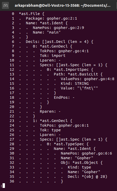 Parsed Ast Abstract Syntax Tree From File