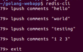 Redis Server Pushing Comments To Golang Webapp