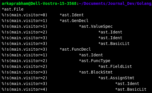Golang Ast Tree Output