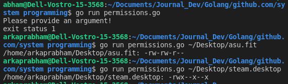 Permissions Go File