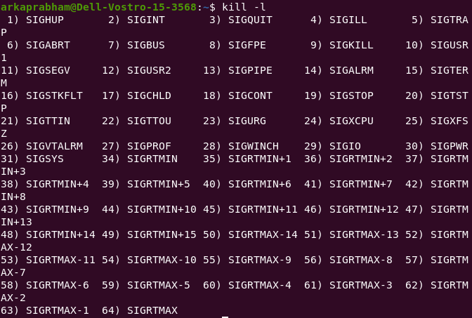 Signals Linux Cmd Kill
